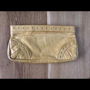 Lauren Merkin leather clutch bag small yel…